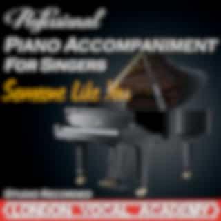 Someone Like You ('Adele' Piano Accompaniment) [Professional Karaoke Backing Track]