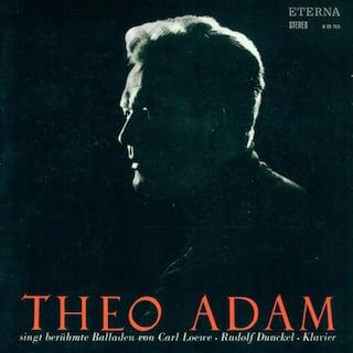 Vocal Recital: Adam, Theo - LOEWE, C. / SCHUBERT, F.