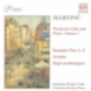 MARTINU: Works for Cello and Piano, Vol.  1