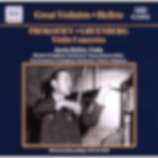 PROKOFIEV / GRUENBERG: Violin Concertos (Heifetz) (1937, 1945)