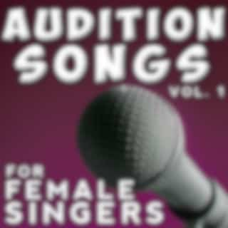 Audition Songs - Female, Vol. 1