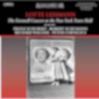 Schubert, Schumann, Wagner & Others: Art Songs (Live)